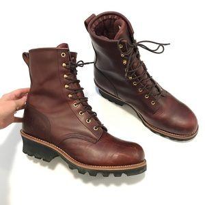 Chippewa sportility Leather Vibram Work boots